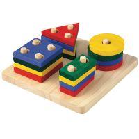 Plan Toys Doska s geometrickými tvarmi