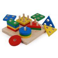 Plan Toys Doska s geometrickými tvarmi 2