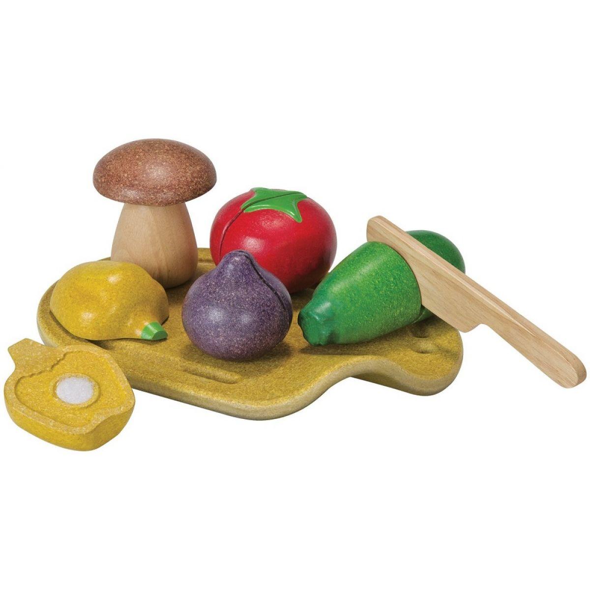 Plan Toys EKO krájanie, zelenina na doske
