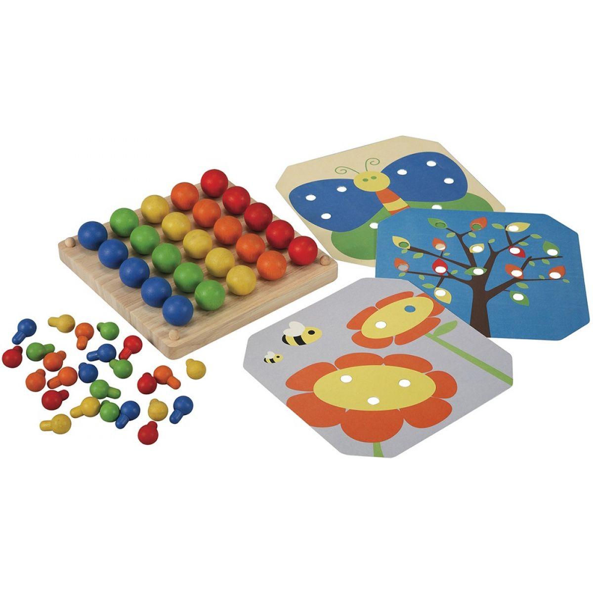 PlanToys PT5162 Kreativní kolíčková tabule