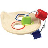 Plan Toys Prestrkovadlo ťahacie s geometrickými tvarmi drevené