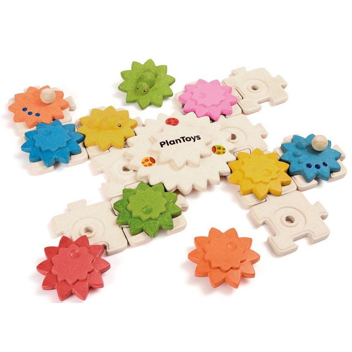 Plan Toys Ozubené kolesá a puzzle štandard