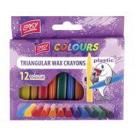 Plastissimo Voskovky trojhranné plastic mix 12 barev