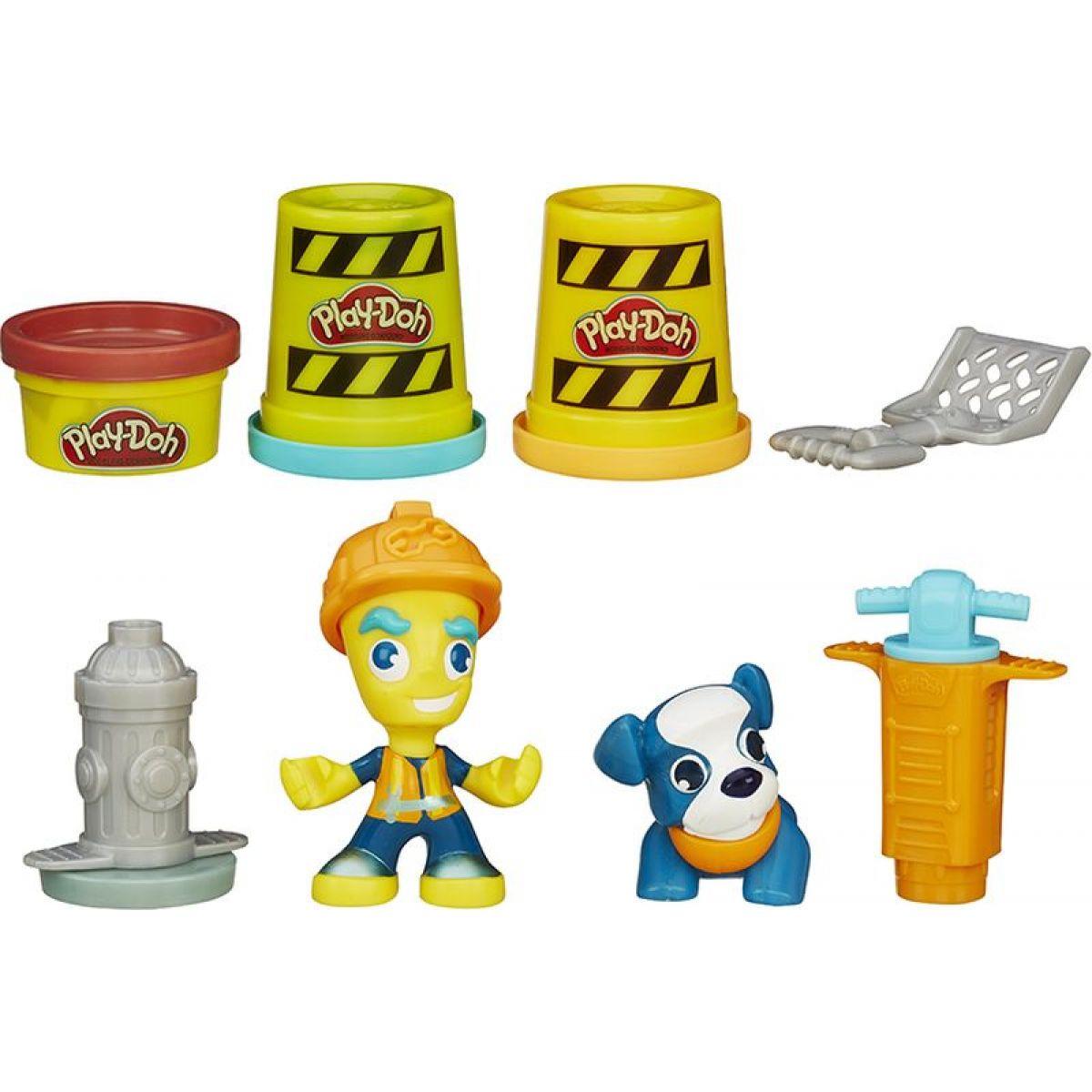 PlayDoh Town Figurka se zvířátkem Pracovník města