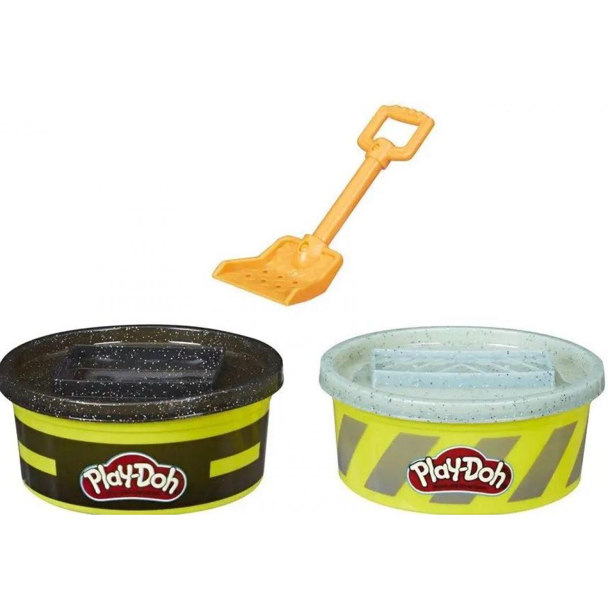 Play-Doh Wheels Stavebné plastelína čierna, sivá