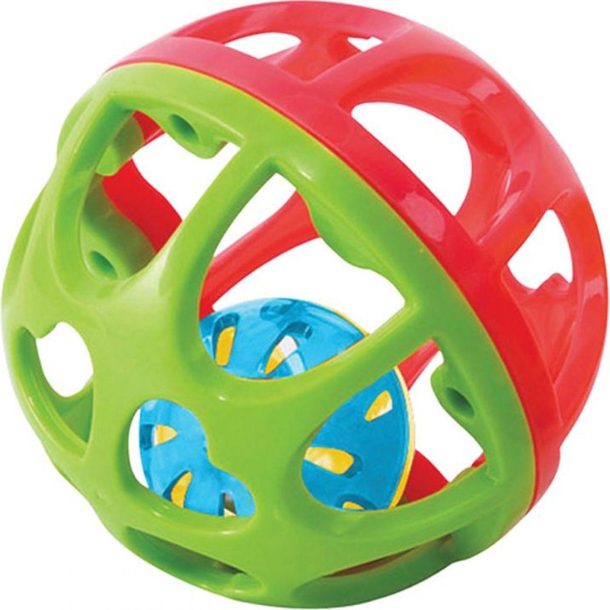 Playgo Chrastící míček Červeno-zelená