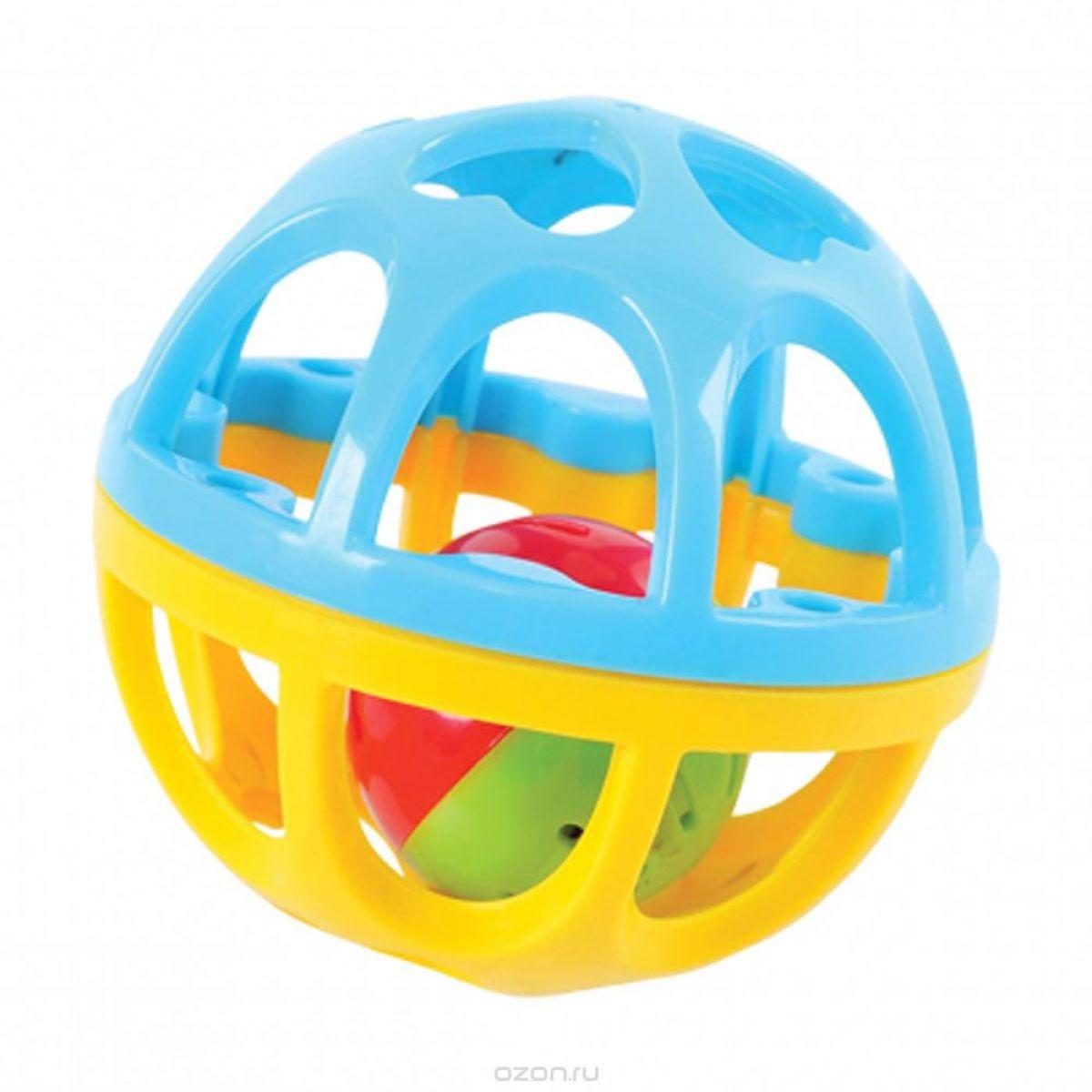 Playgo Chrastící míček Modro-žlutá