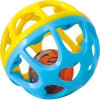 Playgo Chrastící míček Modro-žlutá 2