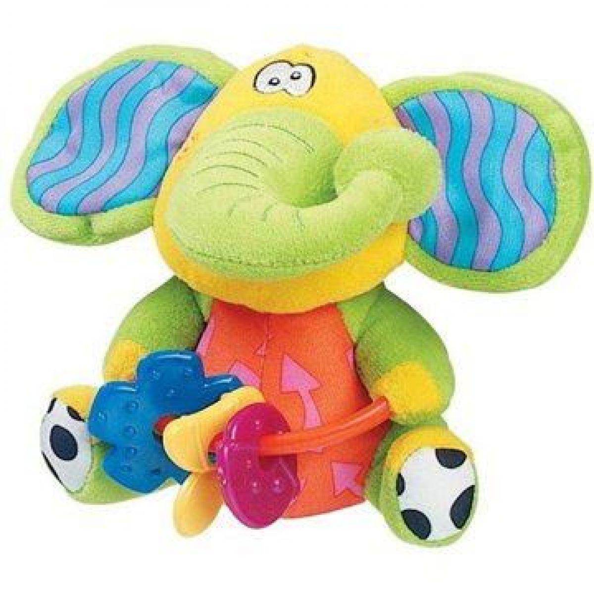 Playgro Šuštiace sloník s hryzátkami