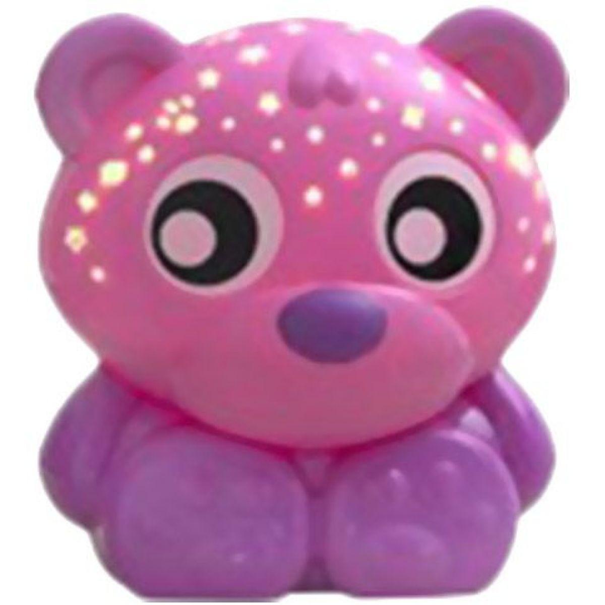 Playgro usínacej lampička Sediaci medvedík s projektorom Ružový