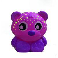 Playgro Usínací lampička Sedící medvídek s projektorem Růžový 2