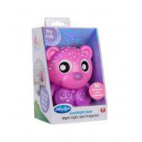 Playgro Usínací lampička Sedící medvídek s projektorem Růžový 6