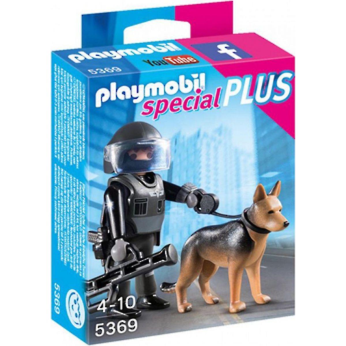 Playmobil 5369 Policajný ťažkoodenec so psom