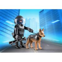 Playmobil 5369 Policajný ťažkoodenec so psom 2