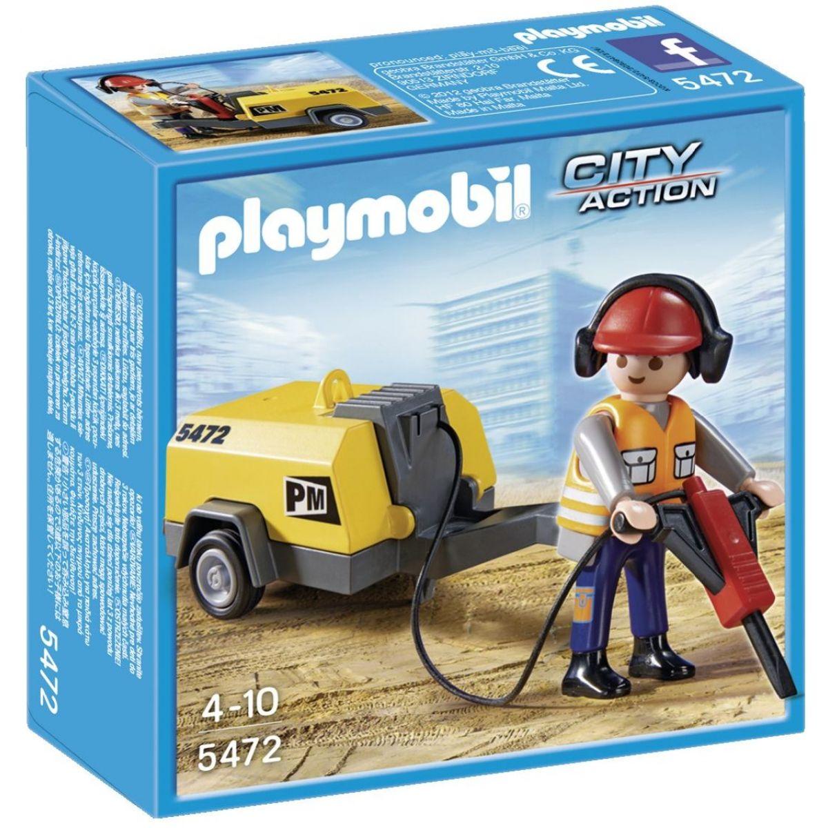 Playmobil 5472 Stavebný robotník sa zbíjačkou