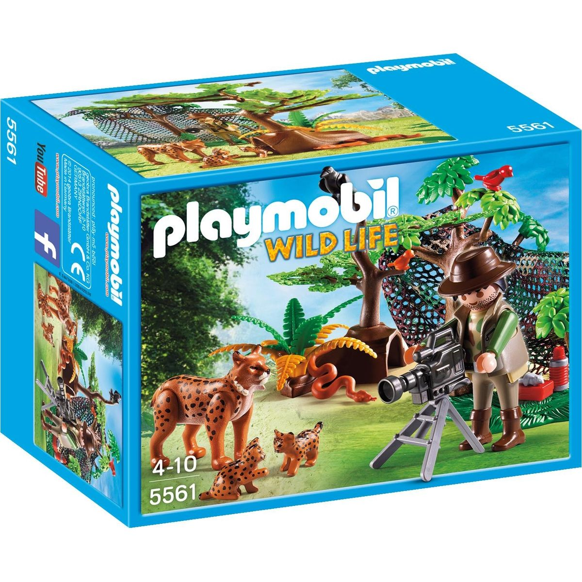 Playmobil 5561 rysie rodina a kameraman