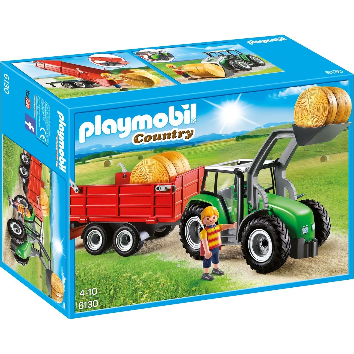 Playmobil 6130 Traktor s prívesom
