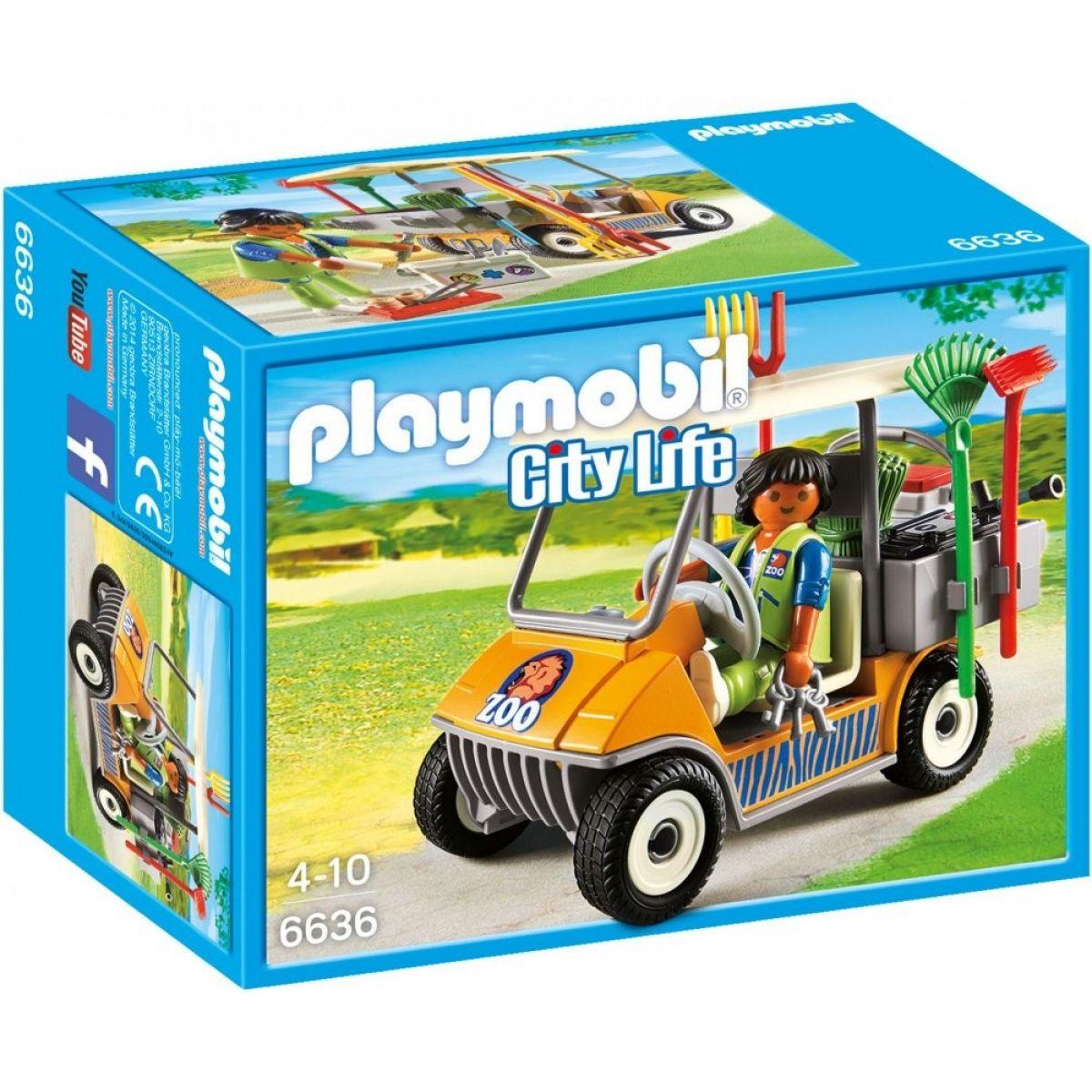 Playmobil 6636 Vozidlo správcu ZOO