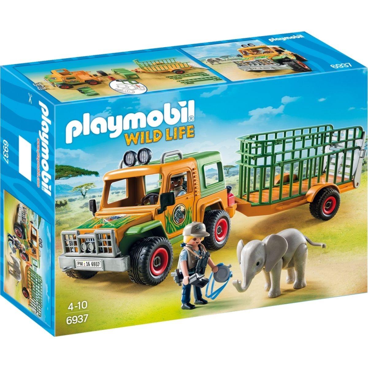 Playmobil 6937 Auto strážcu parku s prívesom