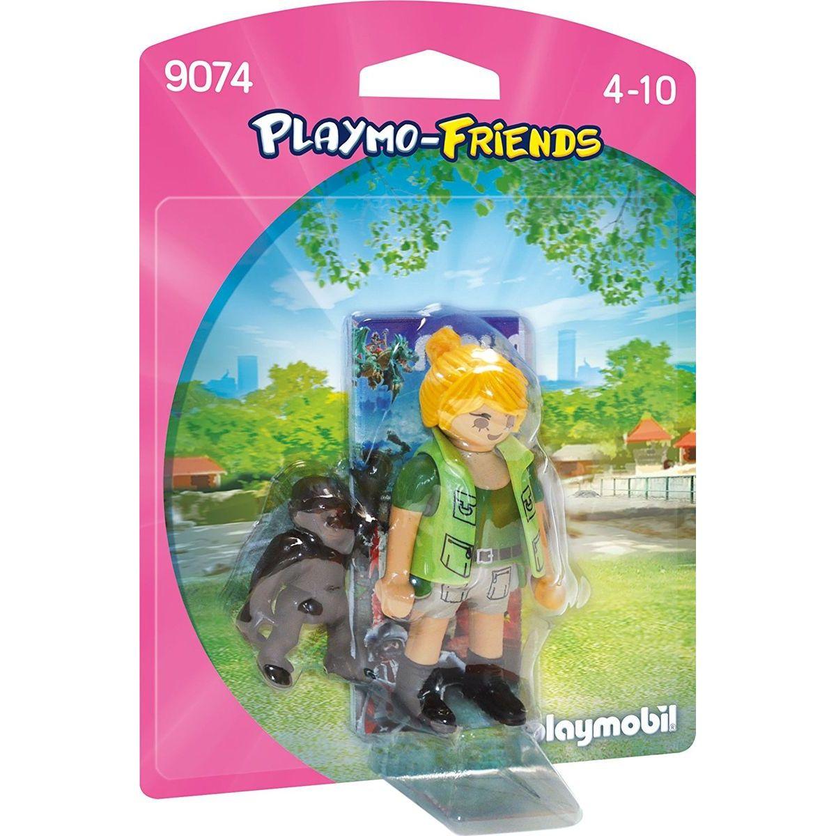 Playmobil 9074 Ošetrovateľka s gorilým mláďaťom