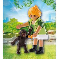 Playmobil 9074 Ošetrovateľka s gorilým mláďaťom 2