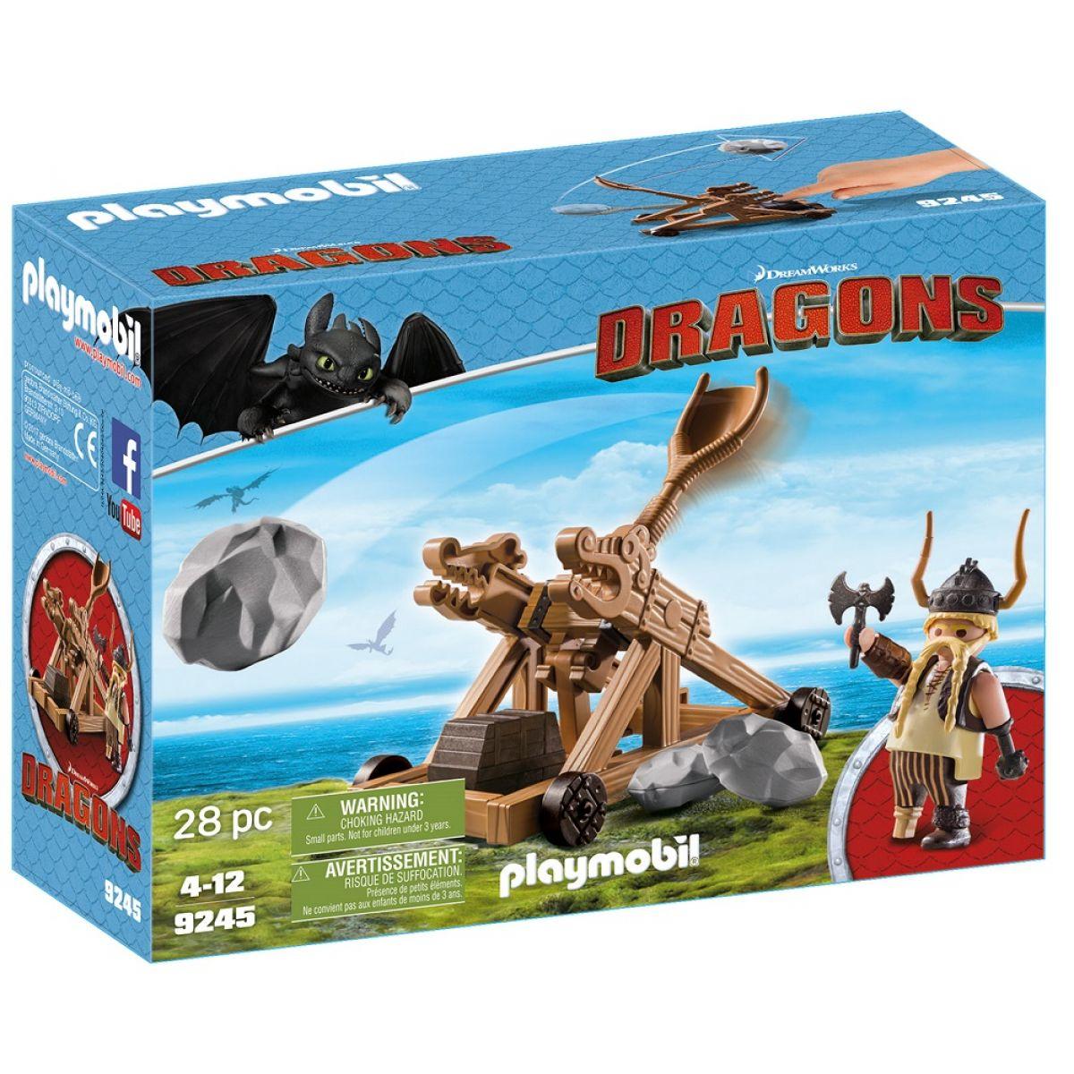 Playmobil 9245 Pahlta Grgavého s katapultom
