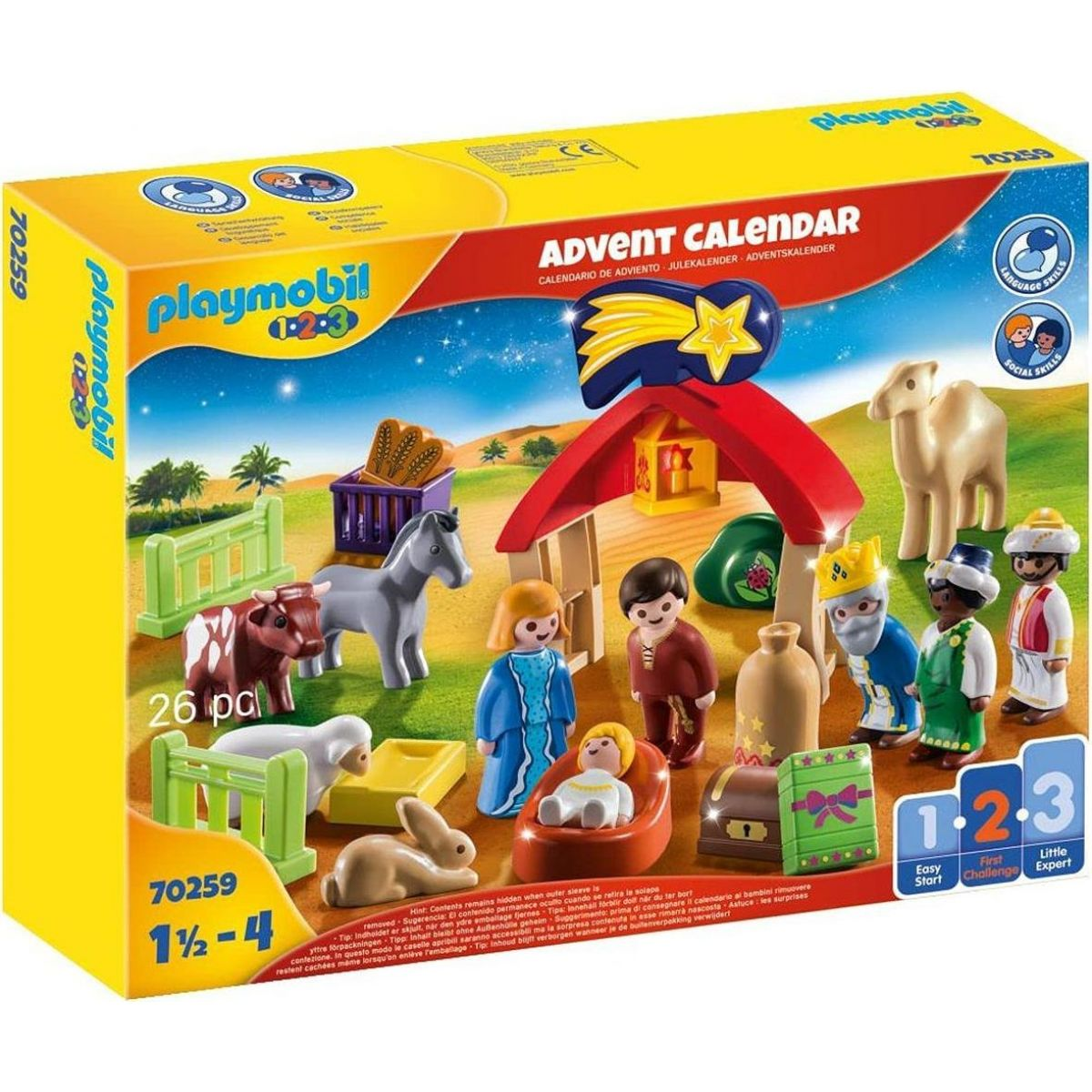 PLAYMOBIL® 70259 Adventný kalendár 1.2.3 Jasličky