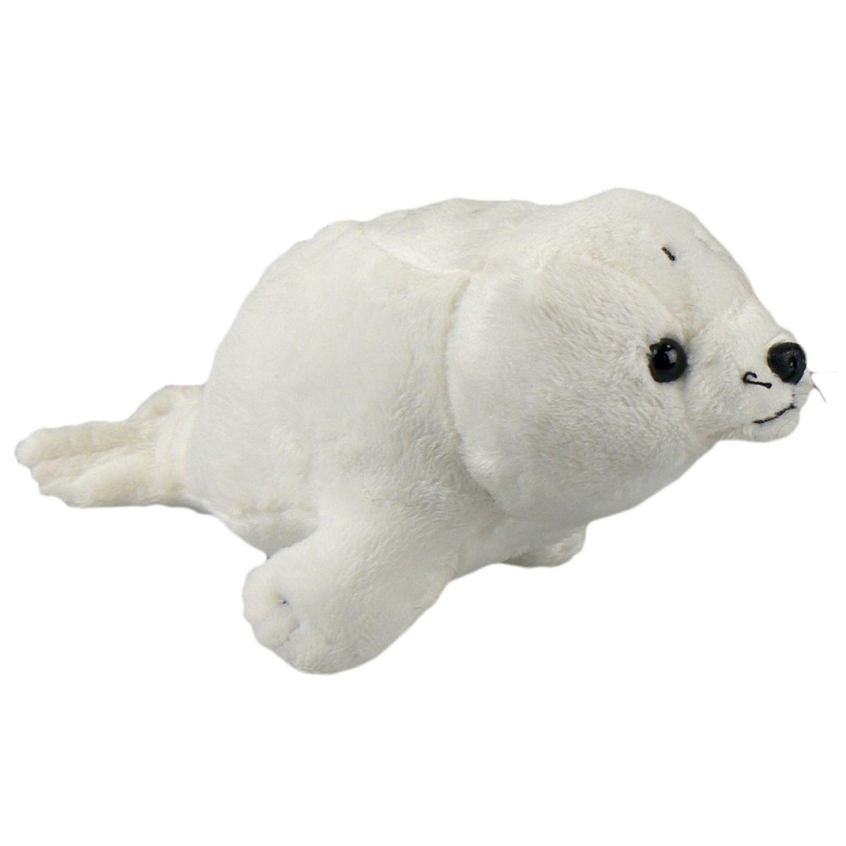 Plyšový tuleň mláďa 25cm biely