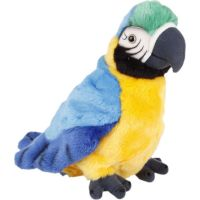 Plyšový papoušek 27cm modrý