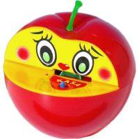 Teddies Pokladnička jablko plast - Červená