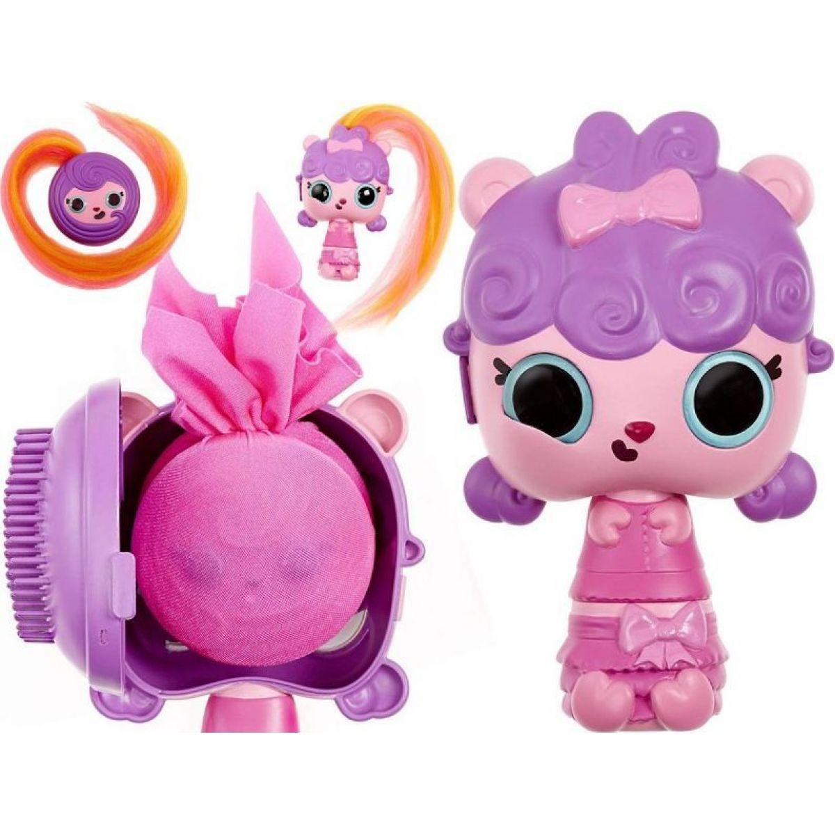 Pop Pop Hair Surprise 3-in-1 Pops 1. series fialové vlasy s mašličkou