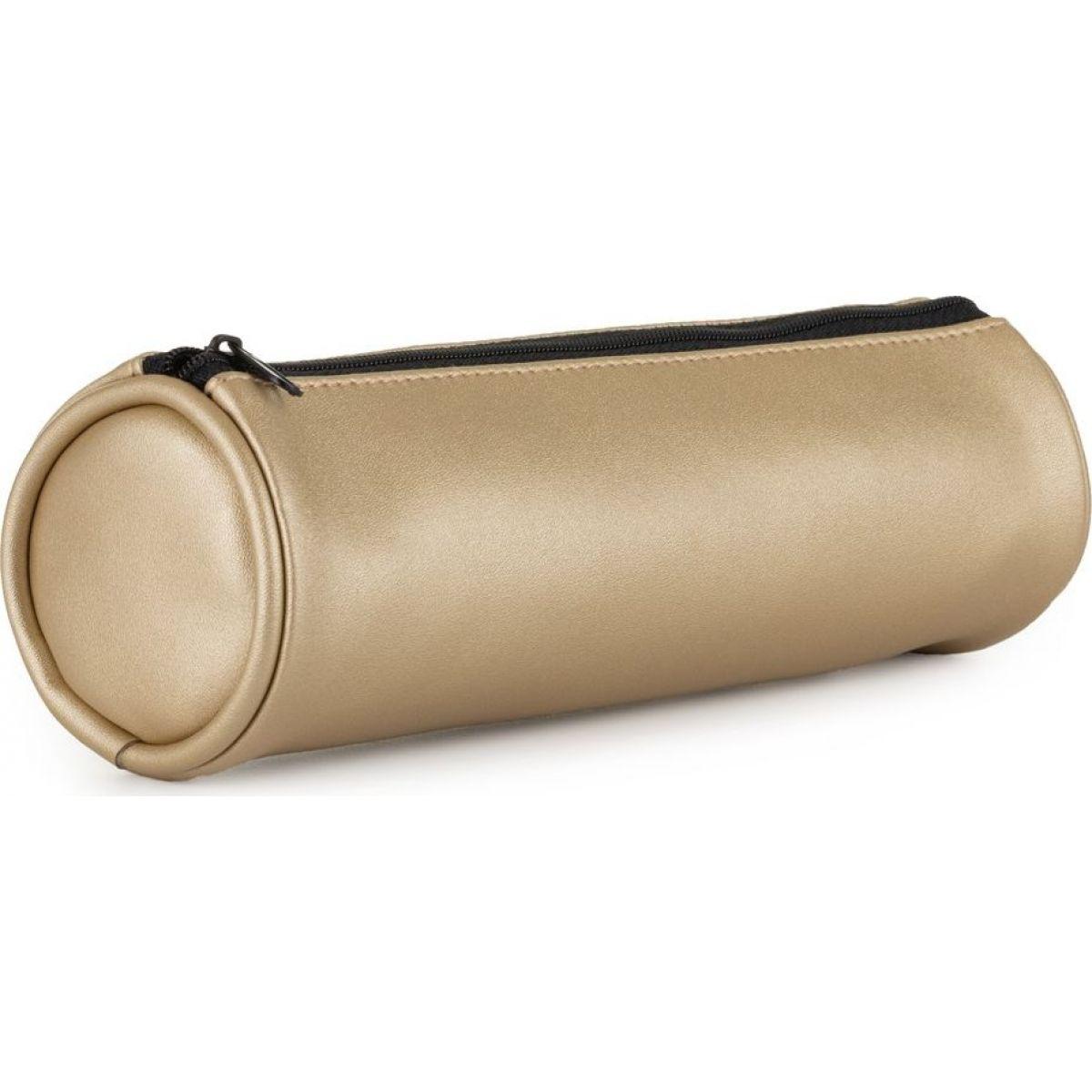 Karton P + P Púzdro etue PU guľatá Metallic zlatá