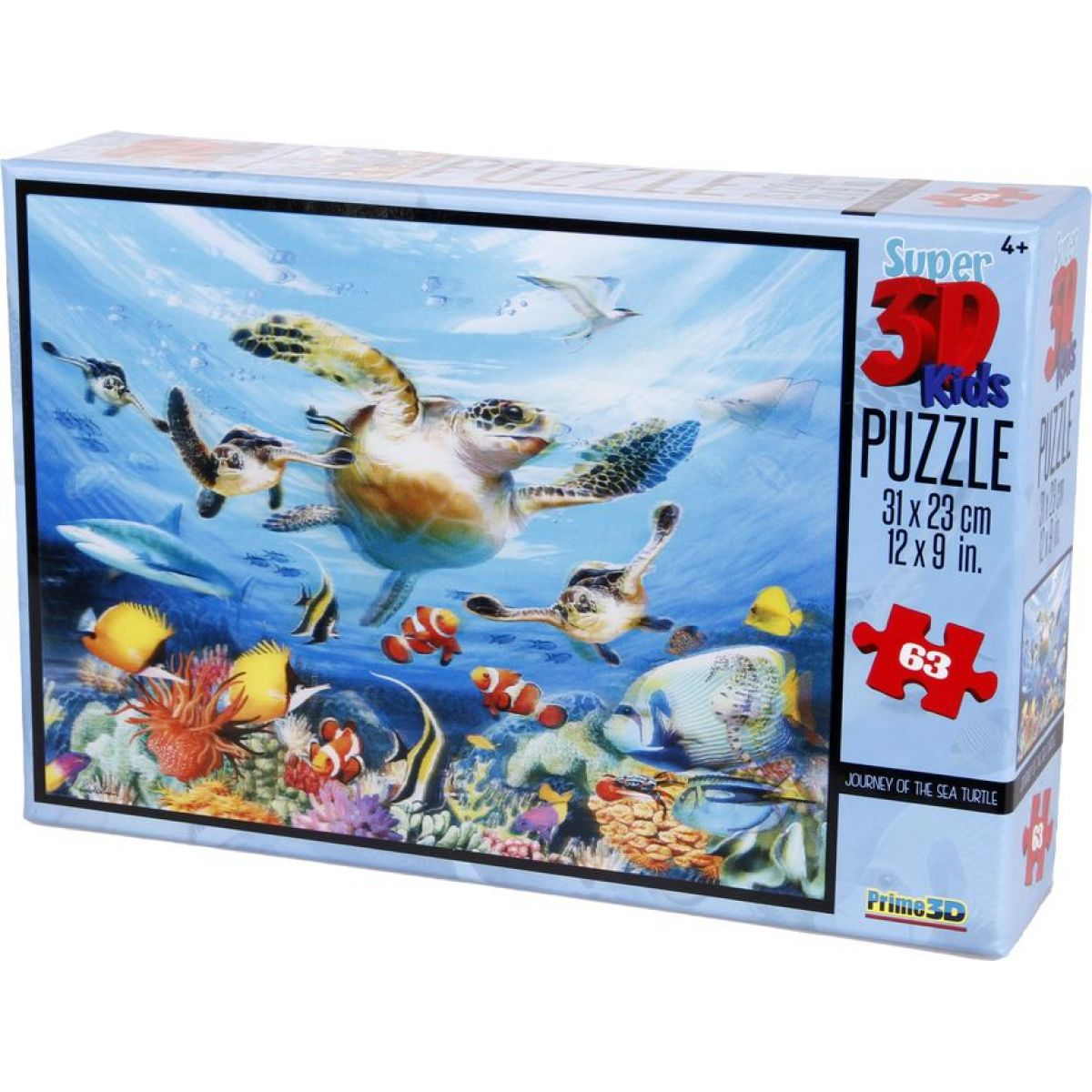 PRIME 3D 63 dílků Cesta mořských želv
