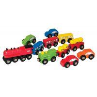 Woody autíčka a vlaky