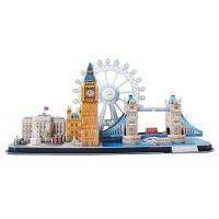 CubicFun Puzzle 3D City Line Londýn 107 dielikov 2