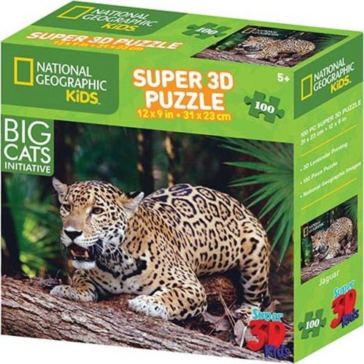 Prime 3D Puzzle 3D jaguár 100 dielikov