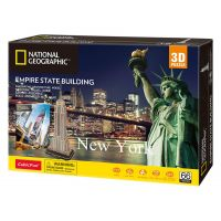 CubicFun Puzzle 3D National Geographic Empire State Building 66 dielikov