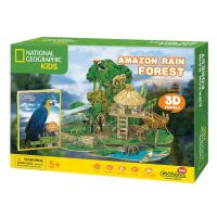 CubicFun Puzzle 3D National Geographic Kids Amazonský dažďový prales 67 dielikov