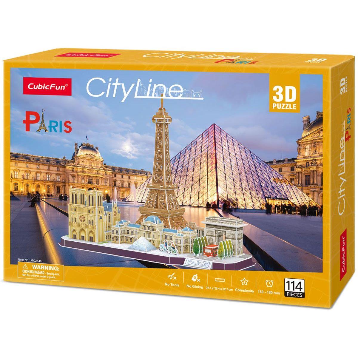 Puzzle 3D Paríž 114 dielikov