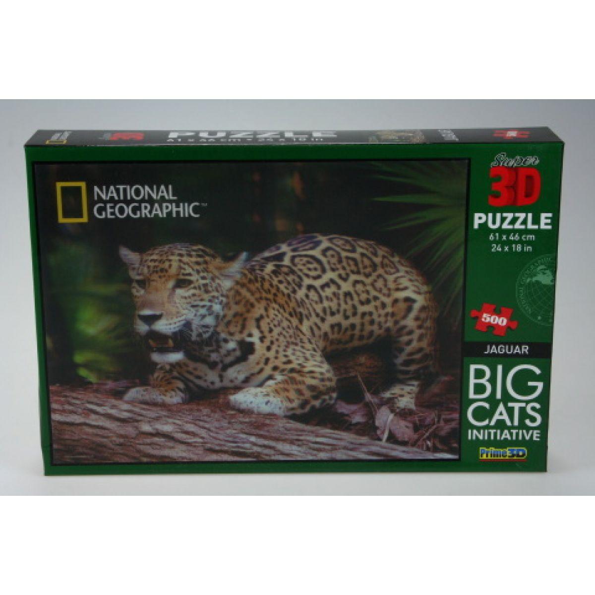 PRIME 3D 500 dílků Jaguár