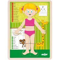 Puzzle Ľudské telo - Dievča CZ