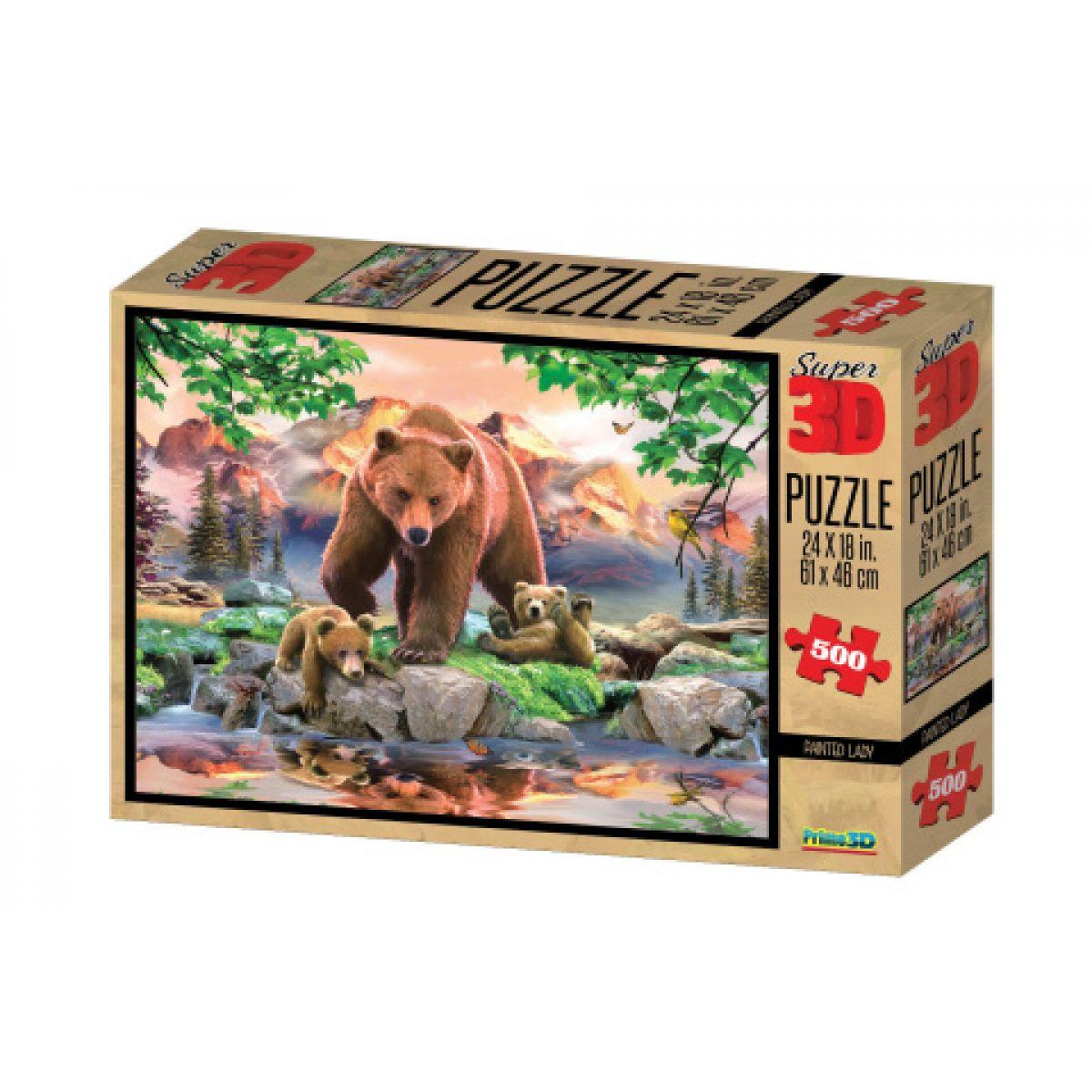 PRIME 3D 500 dílků Medvědi