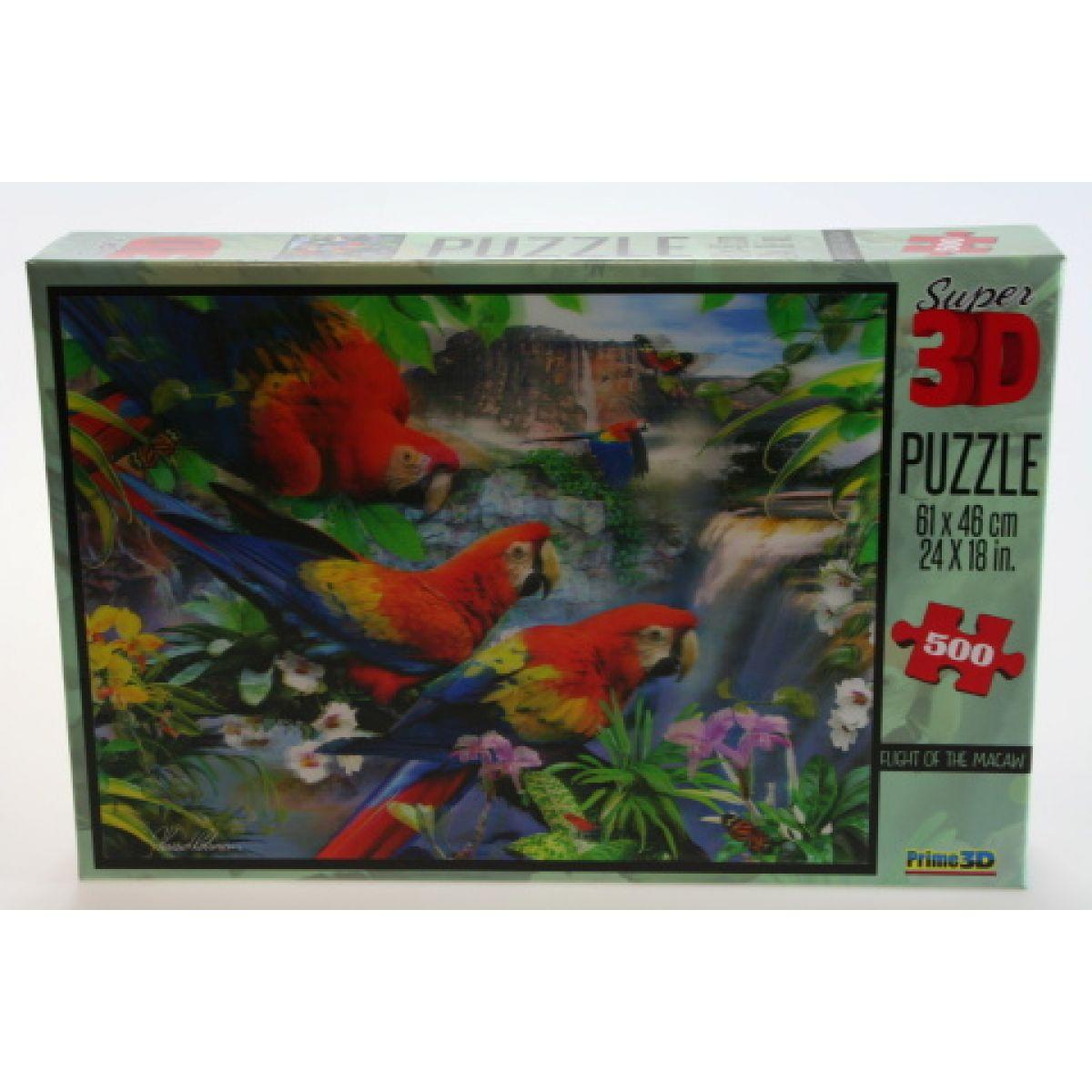 PRIME 3D 500 dílků Papoušci