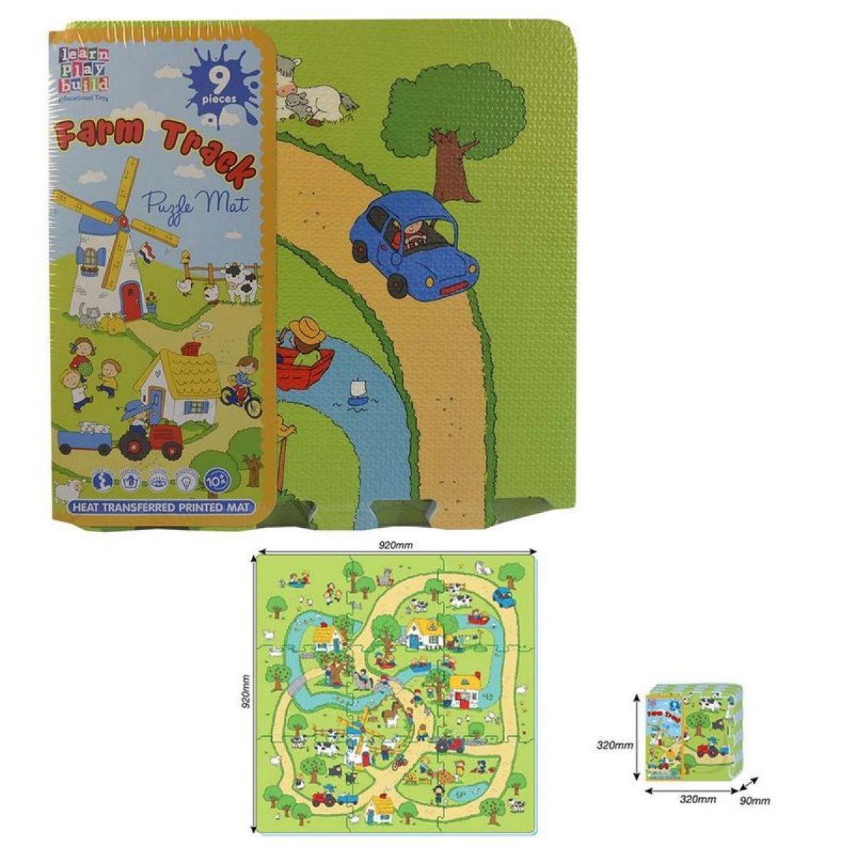 Puzzle penové farma 9 ks 32x32cm
