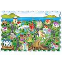 Puzzle pěnové město 6 dílů 32x32cm