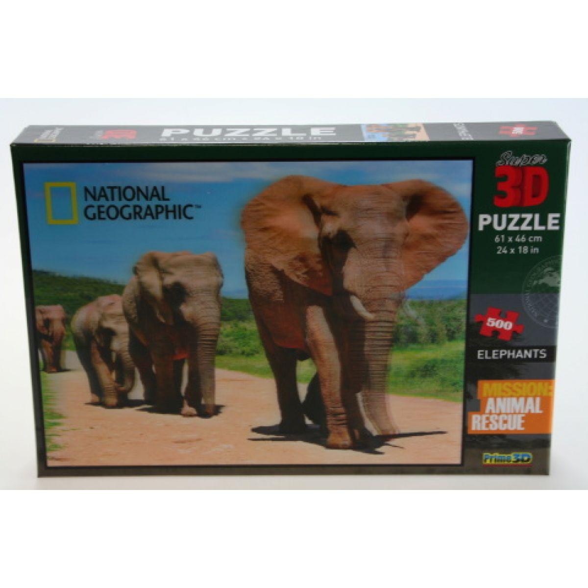 PRIME 3D 500 dílků Sloni