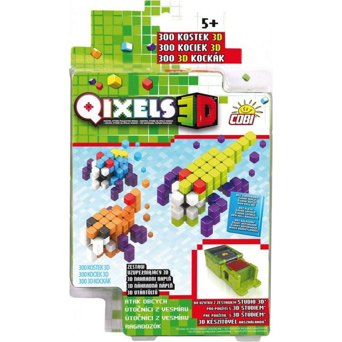 Qixels 3D Tematická sada Útočníci z vesmíru
