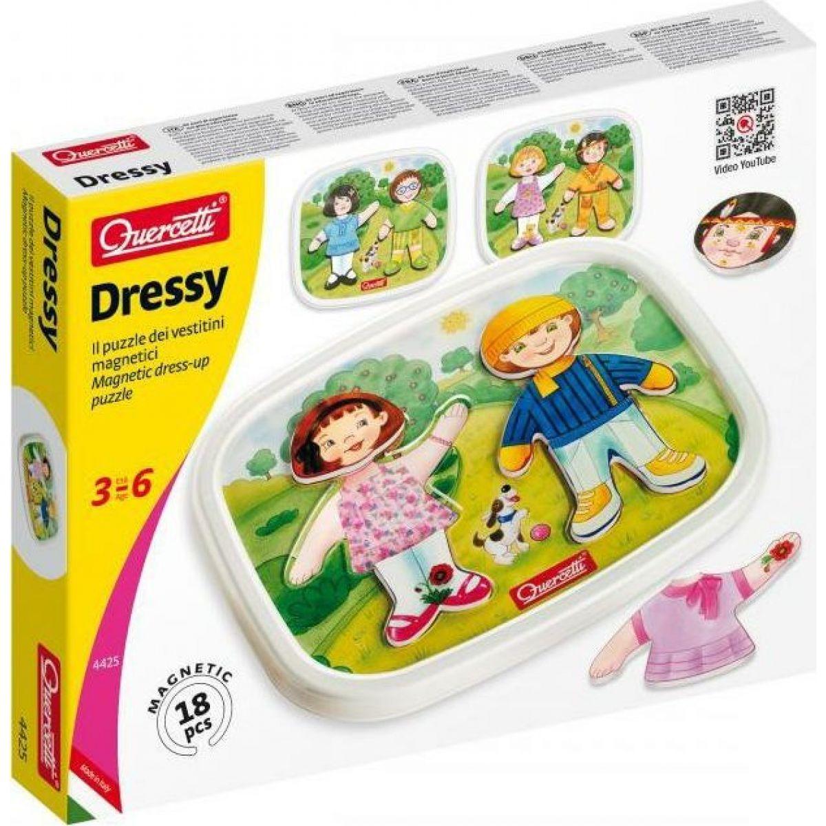 Quercetti Dressy Baby magnetic dress-up puzzle – magnetická skladačka
