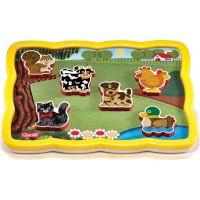 Quercetti vkládačka Smart puzzle magnetico Farma 4