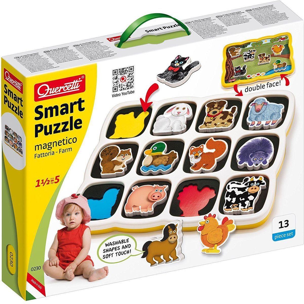Quercetti vkládačka Smart puzzle magnetico Farma